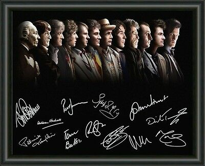 Doctor Who- All Doctors Up To Matt A4 Signed Autographed Photo Poster Free Post