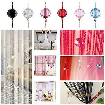 New Tassel String Curtain Beads Wall Panel Door Window Room Divider Scarf Decor