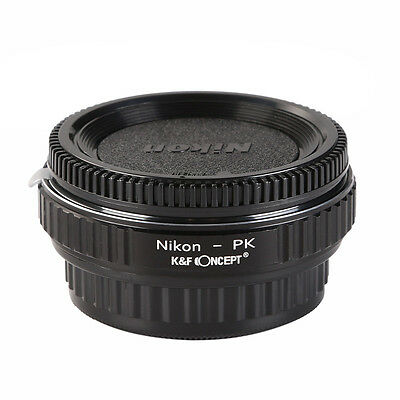 AI-PK Adapter Ring for Nikon AI F mount lens to Pentax PK K Mout Camera w/ Glass
