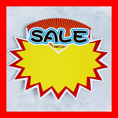 Durable 20x Shop Sale Sign Price Advertising Pop Card