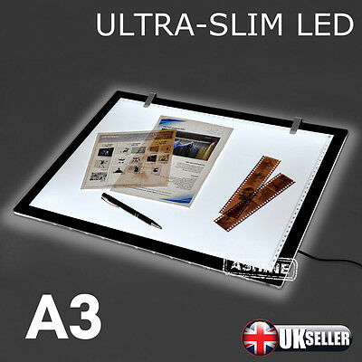 UK Large A3 LED Ultra Slim Art Craft Tracing Tattoo Light Box Pad Board Lightbox