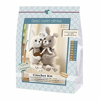 Go Handmade Lilly & Tim The Rabbits 22cm Crochet Needlework Complete Kit!