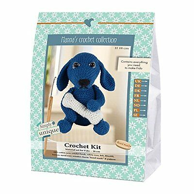 Go Handmade Fido The Dog 18cm Crochet Needlework Complete Kit!
