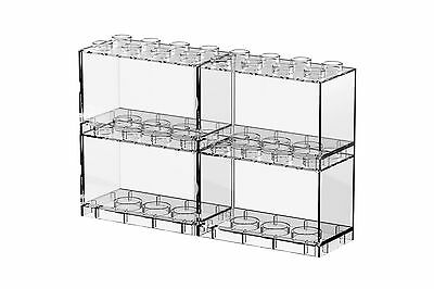 Tiny T-BRICK 4 IN 1 PACKAGE Combination Deckable Display Box Stands Cases