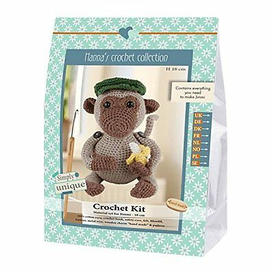 Go Handmade Jimmi The Monkey 18cm Crochet Needlework Complete Kit!