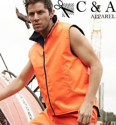 Hi-Vis High Visibility Water Proof Reversible Vest Protective Gear Safety Wear