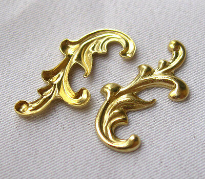 Leaves Brass Filigree Stamping Findings for Jewelry Design bf109 (22pcs)