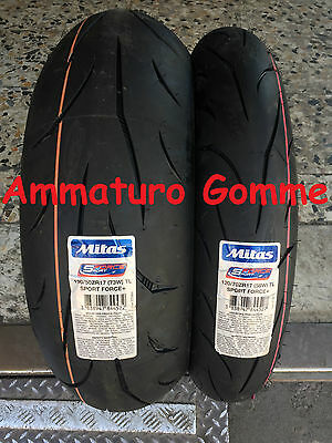 Coppia Gomme Pneumatici Mitas Sport Force+ 120/70 17 190/50 17 Dot 2016
