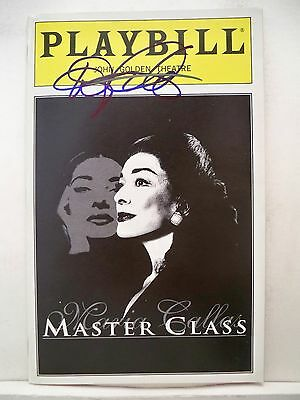 MASTER CLASS Playbill DIXIE CARTER Autographed NYC 1997