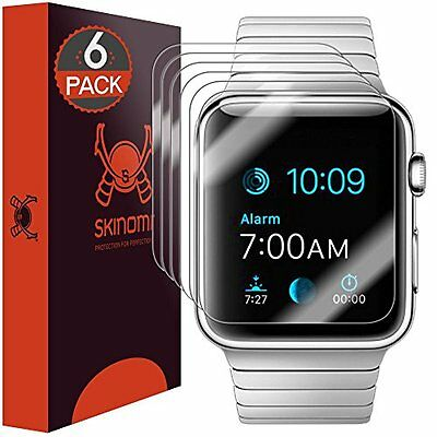 6 Pack 42 Mm Full Screen Protector Clear HD Anti Bubble For Apple Watch Sport