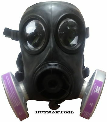 Gas Mask Filter (NBC Style) North 40HE NATO 40mm with HEPA Filter SWAT Police
