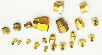 """1//8/"""" NPT To M10X1.5 Male Reducer Oil Pressure Gauge Adapter Brass sump plug"""
