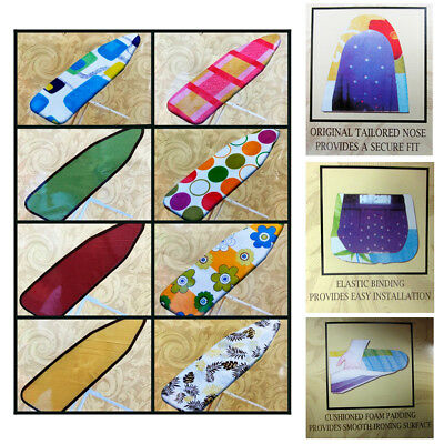 """1 Ironing Board Cover Foam Cushioned Pad Scorch Heat Resistant 54"""" Iron Surface"""