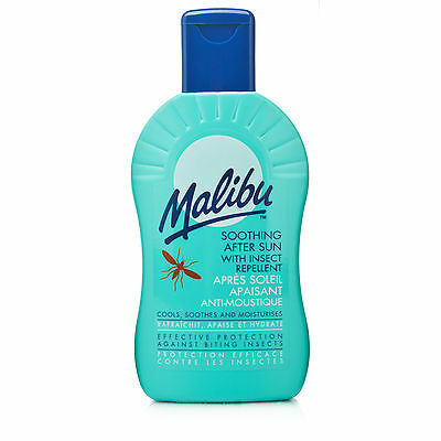 MALIBU MOISTURISING AFTERSUN WITH INSECT REPELLANT. 200ml VERY USEFUL !!
