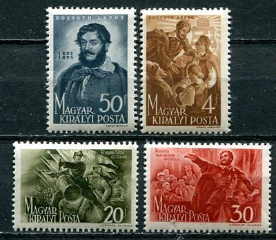 Hungary 1944  Lajos Kosuth Mint Complete Set Of 4 Stamps!