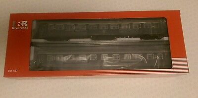 Hornby Rivarossi HR4246 Set 2 carriages type 1959 FS slate grey livery HO 1:87