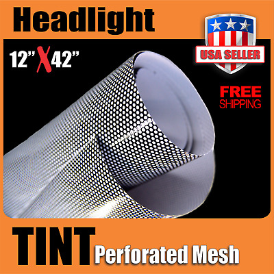 12inch X 42inch Headlights Tint ( Perforated Film Mesh ) 1 Pc