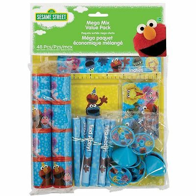 New Sesame Street Elmo 48 piece Birthday Party Favor Mega Value Pack