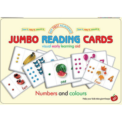 Jumbo EDUCATIONAL Flashcards NUMBERS and COLOURS Preschool LEARN TO COUNT