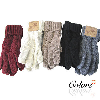 Color 5 New Women Ladies Winter Warm Vintage Knit Gloves Pattern