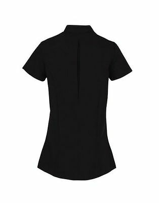 Spa Beauty Hair Salon Black with various colours piping Tunic Nail Massage