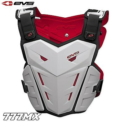 Evs F1 Motocross Enduro Chest Protector Body Armour White *in Stock*