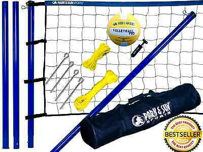 Volleyball Net Set Portable Court System Equipment Outdoor Beach Backyard Play