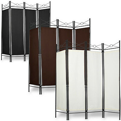 Room Divider Folding Screen Wall Partition Paravent 4-Panel Separator Privacy