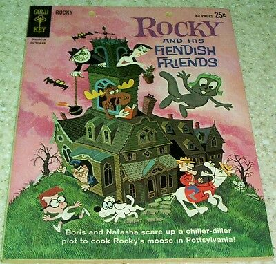 Rocky and His Fiendish Friends 1, VF- 7.5 1962 Gold Key File Copy! 25% off Guide