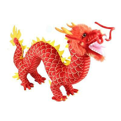 """85*50cm/33""""*20"""" red Chinese Dragon Plush toy Stuffed Animal soft Toy"""
