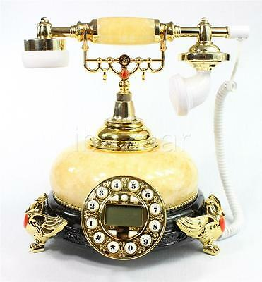Vintage Classic Retro Marble Phone Antique Style (Brown) #12B