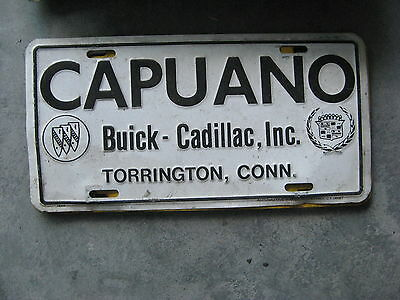 Capuano Buick Cadillac Torrington Connecticut Dealership Booster License Plate