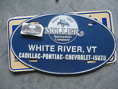 Miller Cadillac Pontiac White River Vermont Vt Dealership Booster License Plate