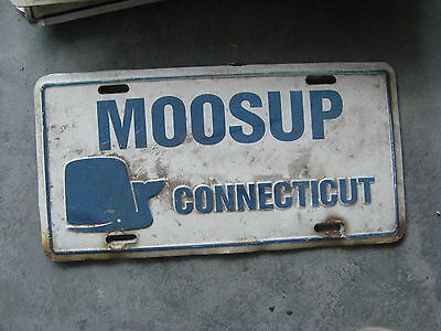 Moosup Whale Connecticut Ct Booster License Plate