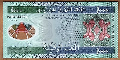 Mauritania - 1000 Ouguiya - 28.11.2014 - P19 - Polymer Issue - Uncirculated