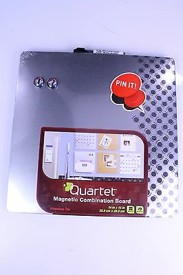 NEW Quartet Combination Dry Erase Board Magnetic 14 x 14 Inches Frameless Silver
