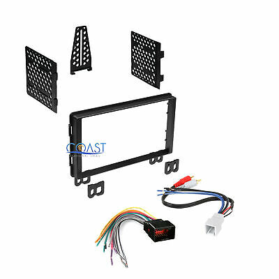 Double DIN Car Radio Stereo Dash Kit Harness for 2001-06 Ford Lincoln Mercury
