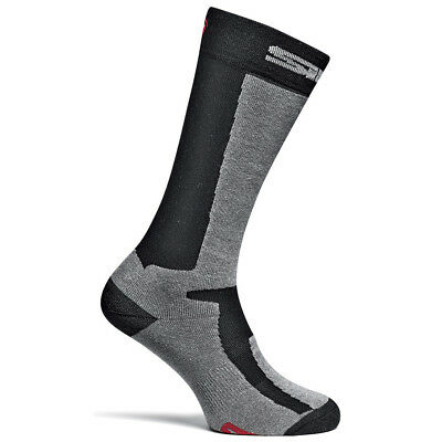 Sidi Motorcycle Motorbike Socks Mugello Blk/grey Single Pair