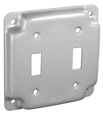 Lot Of 3 4 Square Industrial Duplex Electrical Box Outlet Cover 2