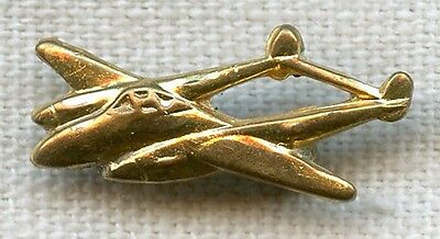 WWII USAAF P-38 Lightning Fighter Lapel Pin