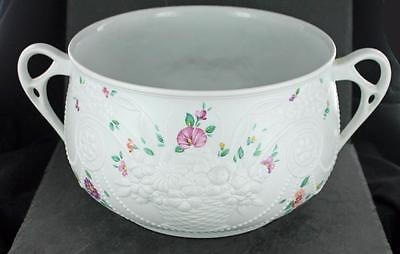 Beautiful KAISER porcelain FLORAL pattern TWO HANDLED BOWL