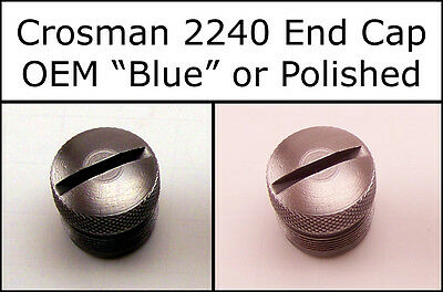 Crosman 2240 CO2 End Cap Cover - Blued or Fully Polished - Nickel? Stainless?