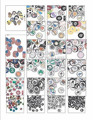 Beads POLYMER CLAY Round Disc /Coin Bead ~ DOUBLE Sided Polyclay ~ Various Sizes