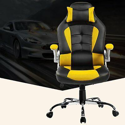 Merax High Back PU Leather Office Chair Racing Gaming Swivel Computer Desk