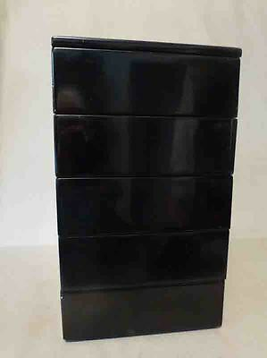 Vintage Japanese Lacquered Stacking Bento Lunch Box Set, 5 Boxes, Jubako
