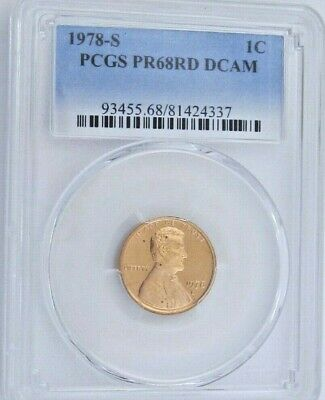 1978 S Proof Lincoln Memorial Cent - PCGS PR 68 RD DCAM Red Deep Cameo