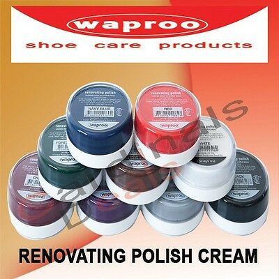 Waproo Renovating Polish Cream - Restore Colour To Scuffed Shoes Various Colours