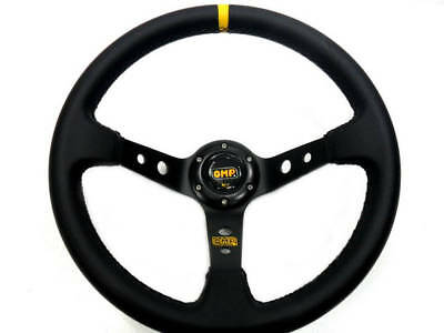 "350Mm Rally 4"" Deep Dish Leather Black Stitch Steering Wheel 2-5 Day Dispatch"
