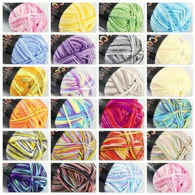 SALE 1 ball X50g Soft Warm Varied Cotton Baby Hand Knitting New Yarn A