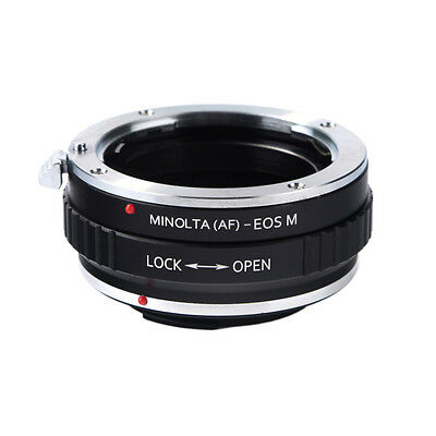 Adapter Sony Alpha Minolta AF A lens to Canon EOS M EF-M mount Mirrorless Camera